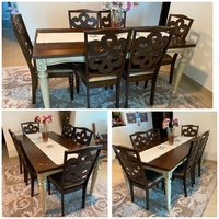 Used Dining table with 6 chairs + side table  in Dubai, UAE