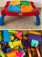 Used Mega Blocks foldable table ans blocks  in Dubai, UAE