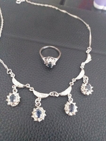 Used Necklace and Ring 925 silver in Dubai, UAE