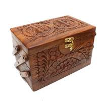 Used Wooden hand carved jewellary box in Dubai, UAE