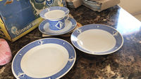 Used 20 pcs unused dinner set box is damaged  in Dubai, UAE
