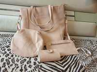 Used New 4 pcs pink bags set in Dubai, UAE