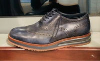 Used Men blue leather shoes, size UK 42 in Dubai, UAE