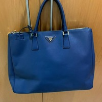 Used Authentic Prada Saffiano Blue Bag in Dubai, UAE