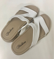 Used Cross Strap Summer Slipper White/ 39 in Dubai, UAE