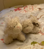 Used Lamb toy keychains. One white, one grey. in Dubai, UAE