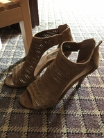 Used Tan heels eu37.5 in Dubai, UAE