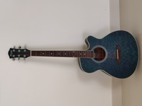 Used Blue Acoustic Guitar (metal strings) in Dubai, UAE