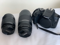 Used Canon 2000D + waterproof bag + two lens  in Dubai, UAE