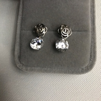 Used 925 silver rose 🌹 pearl design earrings in Dubai, UAE
