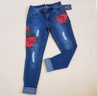 #brandnew #jeans #sizemedium #uk10 #W28 #us5 #blue #skinnyjeans #midrise #embroidered #stretchable