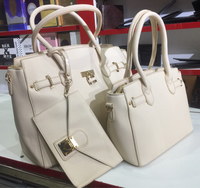 3 Pieces White Ladies Branded Hand Bag