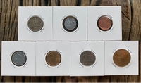 Used Slovakia - 7 old coins in Dubai, UAE