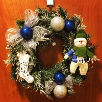 "Used Christmas Wreath ""Winter Fairytale""  in Dubai, UAE"