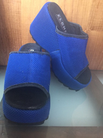 Used 36 size wedges new leather Best Buy  in Dubai, UAE