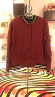 Used maroon bomber button up jacket in Dubai, UAE