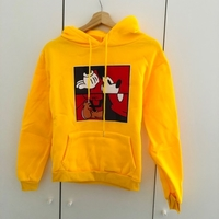 Used Yellow Mickey Mouse hoodie size small in Dubai, UAE
