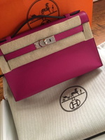 Used Kelly Hermes pochette bag in Rose color in Dubai, UAE