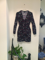 Used Long Sleeve V-Neck Dress Boho in Dubai, UAE