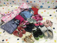 Used Kid lovely shoes and dress in Dubai, UAE