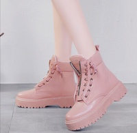 Used BAMLARDAI Increase Martin boots Pink in Dubai, UAE