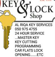 Used Key Cutting, Master Key,remote.,car Flats LOCK OPENING Etc.... in Dubai, UAE