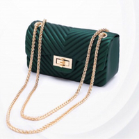 Used Chanel emerald green messenger  in Dubai, UAE