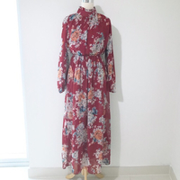 Red long floral dress NEW