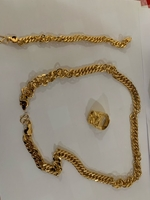 Used Gold plated Chain, bracelet and Ring in Dubai, UAE