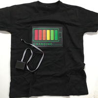 Led lights voice activated T-shirt