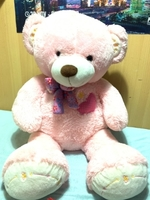 Used Light Pink Bear 50CM in Dubai, UAE