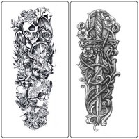 New 2Pcs DIY Temporary Tattoo Stickers