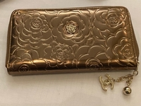 Used Chanel bronze golden wallet  in Dubai, UAE