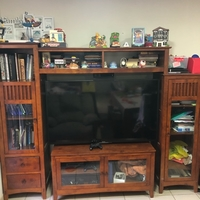 Used Real wood shelf and tv desk in Dubai, UAE