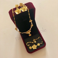 Used Flower Designs Gold Plated Jewelry  in Dubai, UAE