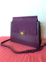 Used Charles & Keith Purple Suede Bag in Dubai, UAE