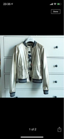 Used Leather jacket small. Gucci style  in Dubai, UAE