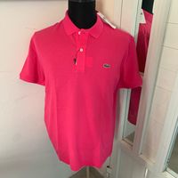 Dark pink Lacoste polo shirt XL New