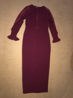 Used Maroon dress fits large in Dubai, UAE
