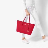 Used Michael Kors Red Saffiano bag (large) in Dubai, UAE