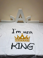 "Used 2 T-Shirts ""I'm HER 👑""I'm HIS Queen  in Dubai, UAE"