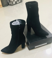Used Black Boots Nubuck Heels ❤️ in Dubai, UAE