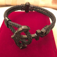 Used Anchor black bracelet with rhinestone  in Dubai, UAE