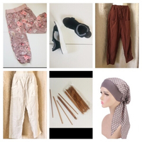 Used Bundle of pants & sandals & scarf & hook in Dubai, UAE
