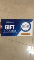 Used Dubai Dolphinarium Aed 100 voucher in Dubai, UAE