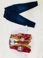 Used Kids printed shirt tie and jeans combo  in Dubai, UAE