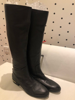 Used Vince Camuto black leather flat boots 38 in Dubai, UAE