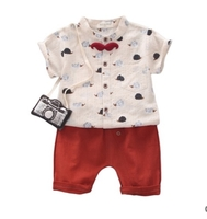 Used Hedgehog Pattern Shirt and Solid Shorts in Dubai, UAE