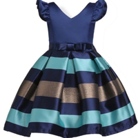 Girls party dress blue size 4-5 years