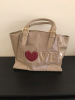 Used Love moschino beige red heart bag in Dubai, UAE